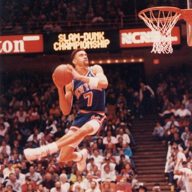 Former New York Knicks slam dunk specialist KENNY SKY WALKER will be a guest on the show tonight! Be sure to tune us in on Long Island's AM1240-WGBB, or listen online at sportstalk1240.com! #NYK #Knicks #KennySkyWalker #NBA #SlamDunk #sports #sportstalk